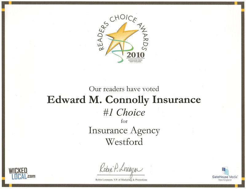 Edward M. Connolly Insurance Agency, Inc., Westford, MA